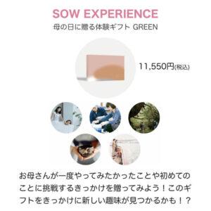 SOW EXPERIENCE(ソウエクスペリエンス)のおすすめ商品